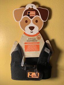DOG HARNESS THE DOG WALKER COMPANY MESH HARNESS BLACK PUPPY/DOG SMALL