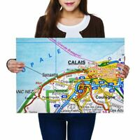 A2 - Calais City France French Travel Map Poster 59.4X42cm280gsm #44504
