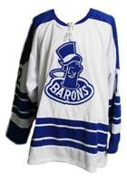 Any Name Number Size Cleveland Barons Custom Retro Hockey Jersey White Meissner