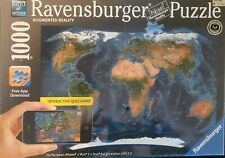 Ravensburger Interactive Quiz Game 1000 Piece Puzzle World Map New Sealed