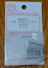 SS Ltd. HO #2526 Wood Frame , 8-Lite Window (3 pcs)