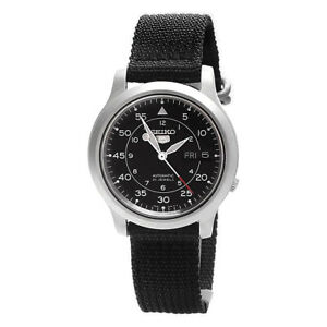 Seiko Analog Casual 5 Automatic Black Mens SNK809K2