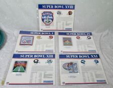 5 Nfl Super Bowl Collectible Official Patches Super Bowl I Iv Xiii Xviii Xii