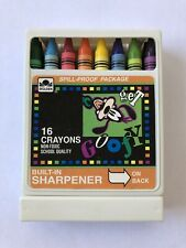 Vintage Walt Disney Goofy Golden 16 Crayons With Sharpener School Quality NEW