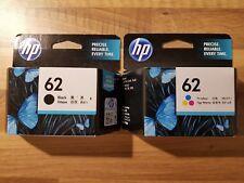 2 x HP ORIGINAL GENUINE 62 BLACK 62 COLOUR Deskjet ENVY 5640/7640/Officejet 5740
