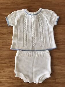 Marquise Vibtage Deadstock Baby Set 00 Bloomers Top Knit