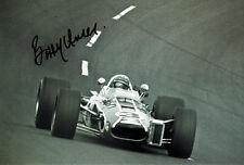 Bobby Unser GENUINE SIGNED American Car Racing Legend 12x8 Photo AFTAL COA