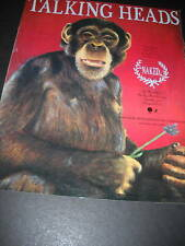 Talking Heads Chimpanzee w/ Flower 1988 Promo Ad Naked