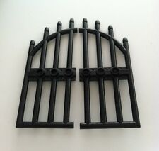 *NEW* 2 Pieces LEGO 1x4x9 BLACK Door with BARS and 3 STUDS