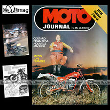 MOTO JOURNAL N°343 BPS 125 TL SUZUKI GS 1000 BENELLI 500 LS HONDA XL 250 S 1977
