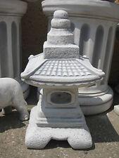Japanische Laterne chinesische Steinlaterne Garten Steinguss 50 cm Lampe Pagode