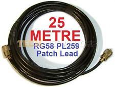 25 Metros (Mil Spec Rg58 Antena Cb Radio Amateur Pl259 parche Plomo 20m 65ft 20