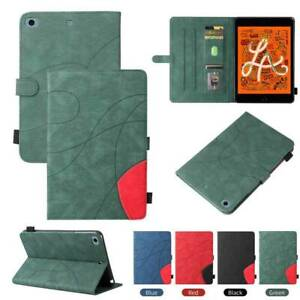For iPad 5 6 7 8 9th Gen Air Pro Mini 4 5 Case PU Leather Shockproof Book Cover