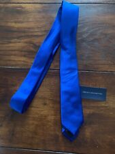 Men's French Connection Blue 100% Silk Skinny Tie BRAND NEW RRP £25
