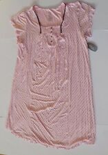 Womens XL nightshirt nightgown pink dotted knit just below knee new 16 18