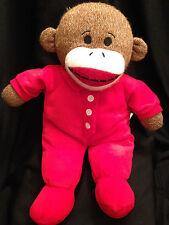 Dan Dee Stuffed Plush Red Pajama Sock Monkey Toy Animal 15 inches