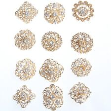 24PCS Rhinestone Brooches Brooch Pins For Women Wedding Bridal Bouquet Kits