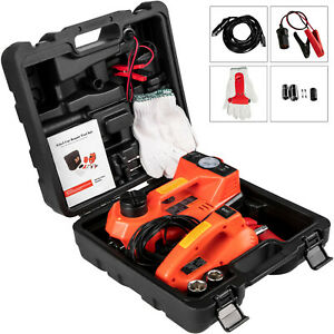 5 Ton Car Electric Jack Lift + Impact Wrench+ Safety Hammer Set 3 in 1