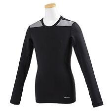 Adidas Junior Techfit Baselayer Long Sleeve Black/Grey Age 13 -14 YB