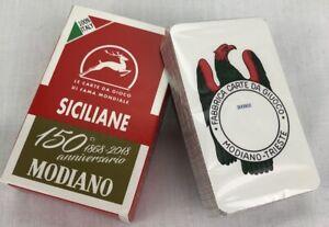 Modiano Siciliane Italian Playing Cards Briscola & scopa Anniversary Edition New