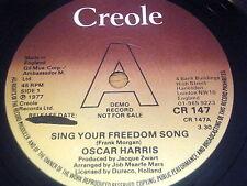 """Oscar Harris-cantar su canción de la libertad 7"""" Vinilo Demo"""