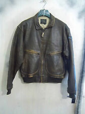 VINTAGE AVIREX US NAVY ISSUE G-2 DISTRESSED LEATHER FLYING JACKET SIZE 42