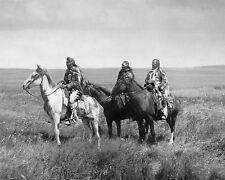 THREE PIEGAN BLACKFEET CHIEFS 8X10 PHOTO NATIVE AMERICAN EDWARD S. CURTIS