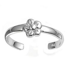 Clear Cz Jewelry Face Height 6 mm Plumeria Toe Ring Genuine Sterling Silver 925