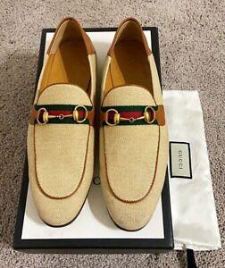 Authentic Gucci Gold Horsebit Cream Mens Loafer US10 Gucci/EU43 UK9