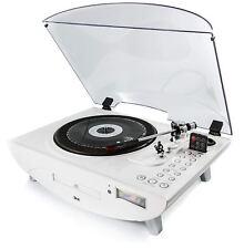 GPO Jive Retro Turntable Record Player 4-in-1 Music Centre & USB/MP3/CD/FM Radio