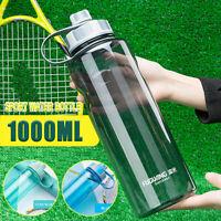 1L Outdoor Sports Trinkflasche Auslaufsicher Radfahren Gym Cup Flip Deckel !