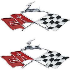 1961 61 Chevy Impala Quarter Panel Emblem Flags Pair 1994 - 1996 Impala SS