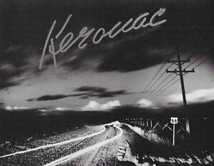 JACK KEROUAC ROUTE 66 ROAD POSTER PROMOTIONAL CARD 1988