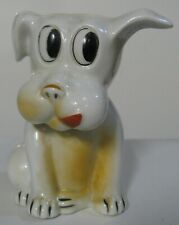 Vintage Big Eyed Floppy Eared Wagging Tonged 5 Inch Tall Dog Bank Made in Japan