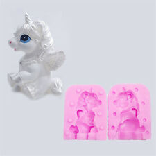 Unicorn Horse Molds Candle Shaped Handmade Soap Cake Sugar Silicone Mould 3D SP