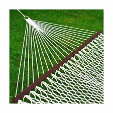Best Choice Products Woven Cotton Rope Double Hammock w/ Wood Spreader and Ca...