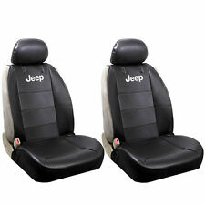 Jeep Official License Elite Classic Synthetic Leather Sideless Seat Covers