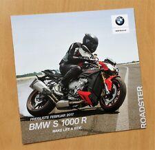 1597) BMW Motorrad BMW S 1000 R Prospekt 2017