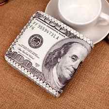 USA Dollari PELLE PORTAFOGLI UOMO BIFOLD moneta porta carte