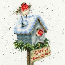 BOTHY THREADS SANTA PLEASE STOP HERE ROBIN HANNAH DALE COUNTED CROSS STITCH KIT