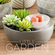 Scentsy Little Garden Warmer for wax melt New In Box With Samples