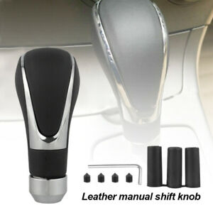 Universal Leather Automatic Car Manual Gear Stick Shift Knob Shifter Lever Cover