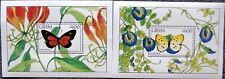 GHANA 1990 Block 153-54 S/S 1183-1184 Butterflies Schmetterlinge Insects MNH