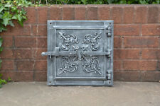 40.5 x 40.5 cm cast iron fire door clay bread oven doors / pizza stove smoke