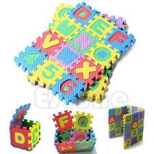 36Pcs Puzzle Alphabet A-Z Letters Numeral Kid Educational Toy Mini Size Foam Mat