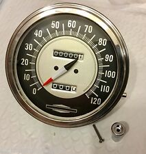 Harley Panhead Shovelhead Servicar Vintage Speedometer Bullseye 1:1 Ratio 68-80