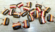 20 vintage Mullard 10nf 250v diped polyester capacitors tropical fish 10mm C280