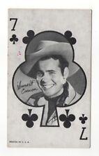 Sunset Carson 1960's Western Aces Exhibit Arcade Card