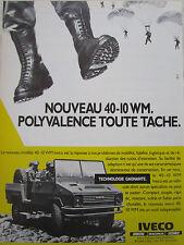 5/1986 PUB IVECO FIAT MAGIRUS UNIC 40-10 WM AMPHIBIE PARATROOPERS PARA FRENCH AD