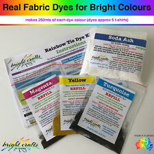 Rainbow Tie Dye Kit REFILL 3 rainbow colours real fabric dyes bright colours